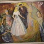 Peinture à l'huile : Le bal de Stella Schippers