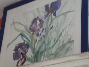 """Aquarelle """"les iris"""" oeuvre personnelle"""